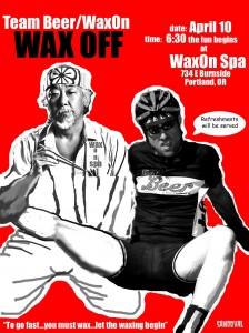 Team Beer Wax On poster